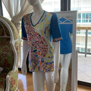 Authentic Emilio Pucci blouse up to mini dress